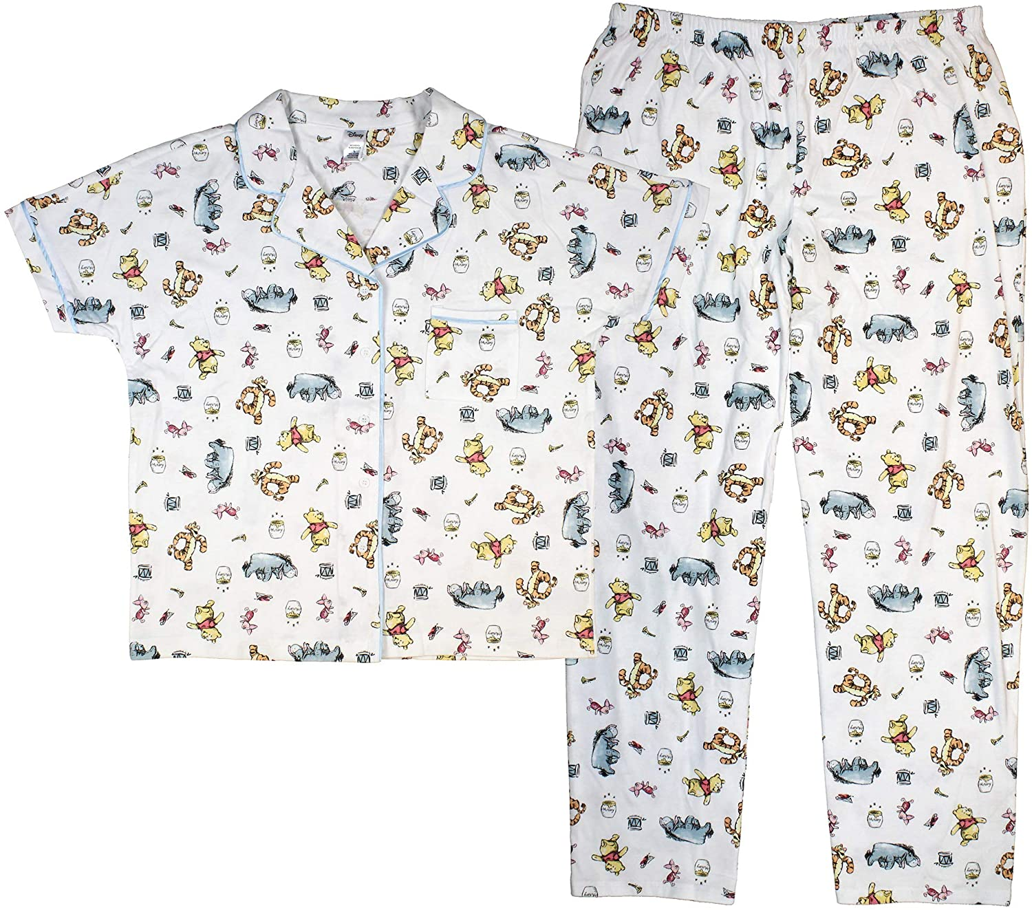 Womens Pooh and Friends Stack Notch Sleep Set
