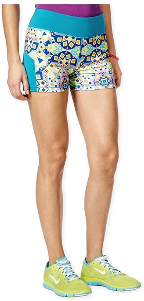 Energie Womens Sunny Print Athletic Compression Shorts