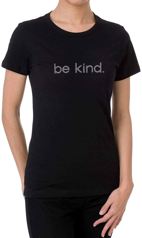 Be Kind Rhinestone/Stud Design Women's T Shirts