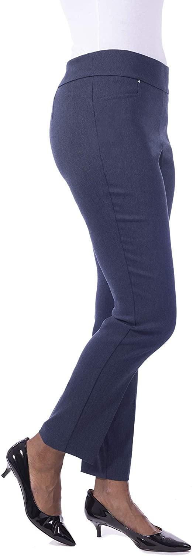 Fundamental Things Womens Tummy Control, Rivet Detail Slim Leg Pant Pull-On
