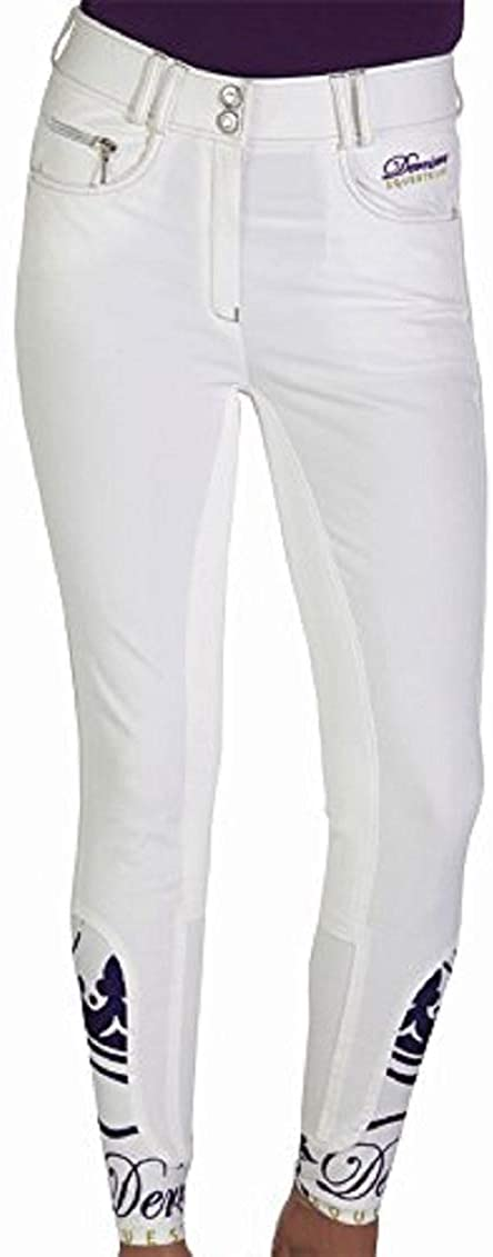 Derriere Equestrian Ladies Cannes Competition Breeches White 32