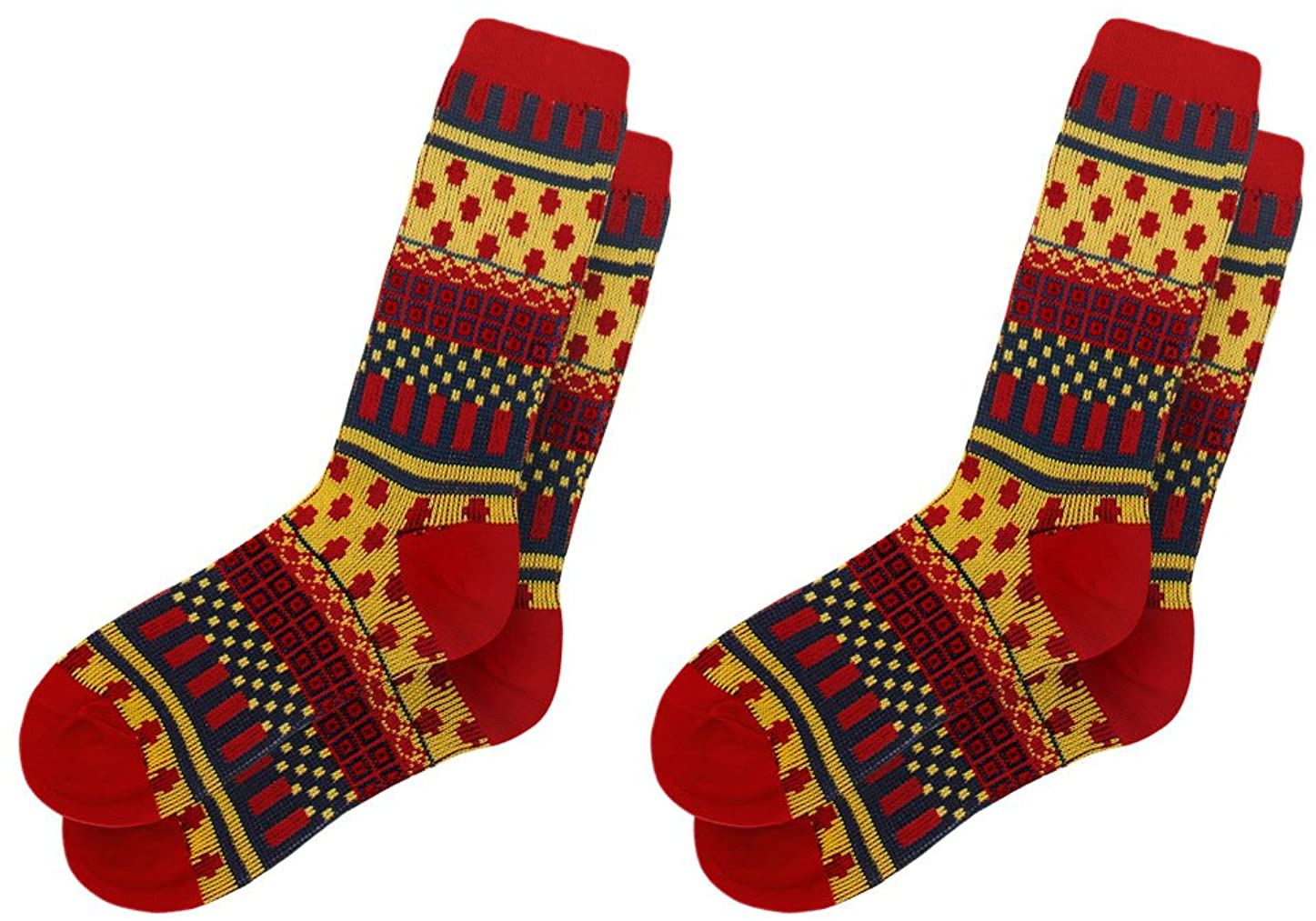 uxcell Women Novelty Prints Elastic Cuffs Ankle High Socks 2 Pairs