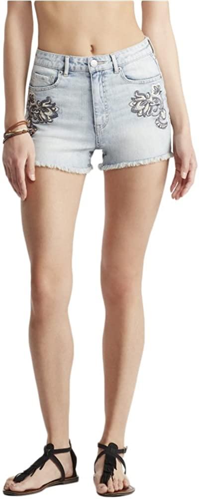 Aeropostale Womens High-Waisted Shorty Casual Denim Shorts