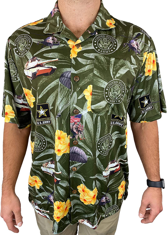 AE Sport Army Hawaiian Shirt