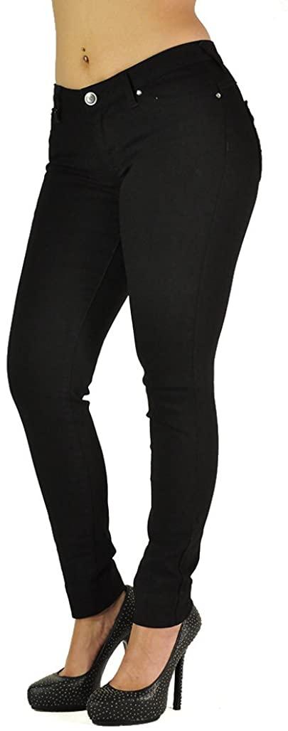 Poetic Justice Women's Curvy Fit Black Rinse Denim Basic Skinny Ankle Jeans