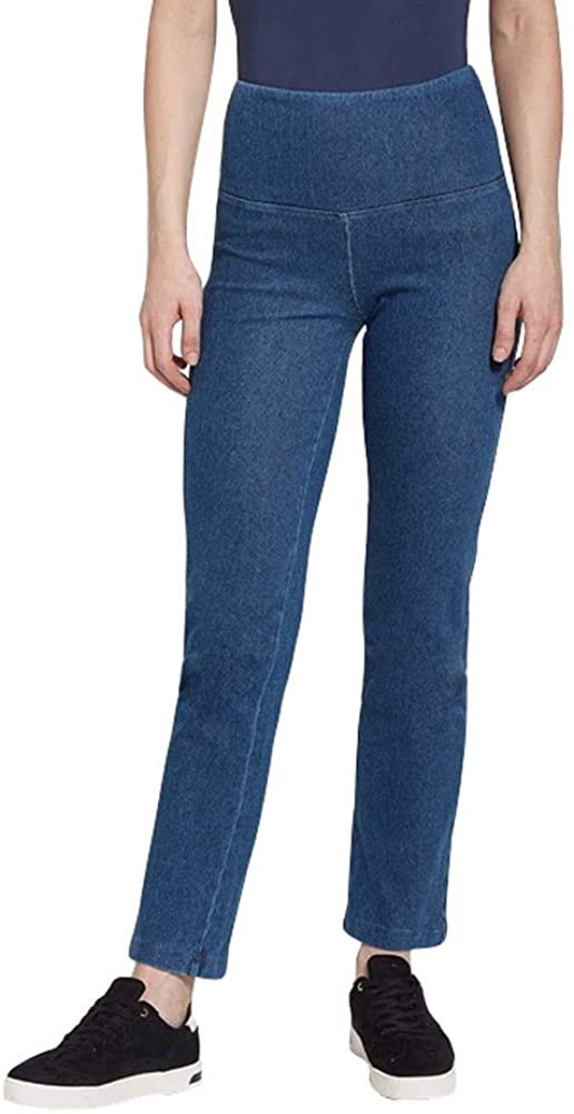 Lysse Women's Denim Straight Leg Legging Pant (Mid Wash,XL)