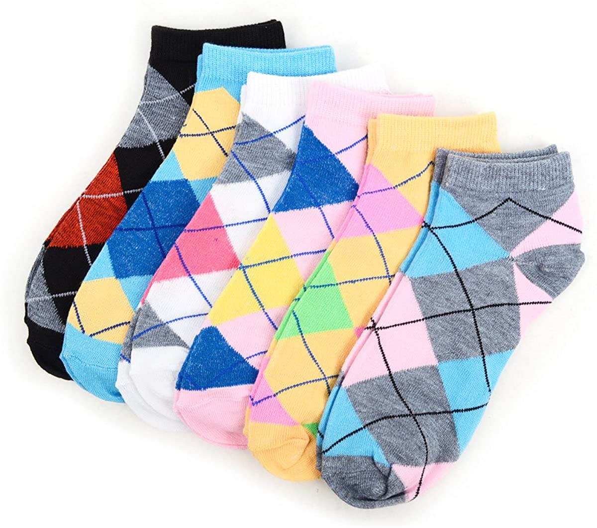 Women's Argyle Low Cut Socks