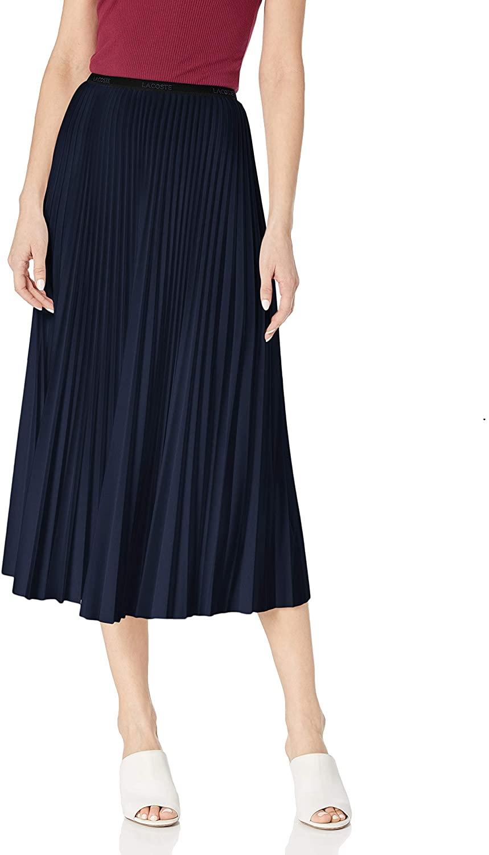 Lacoste Womens Pleated Midi Skirt
