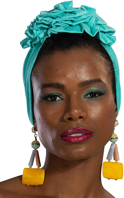 Instant Turban Cotton Scarf Head Wrap Scarfs For Women Hat Rose Detail