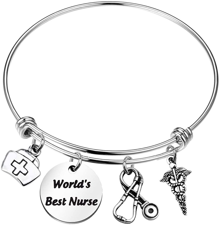 KEYCHIN Nurse Gift World's Best Nurse Bracelet Nursing Student Jewelry Future Nurse Gift Nursing Student Teacher Jewellery