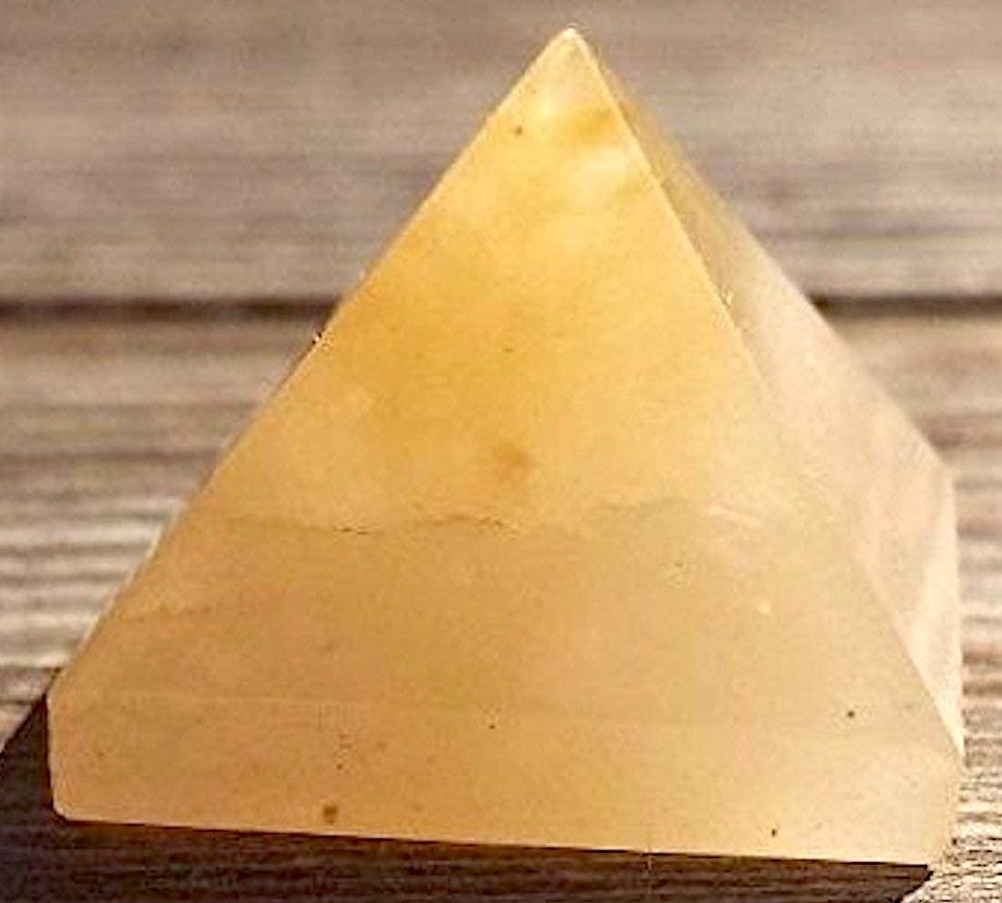 Energized Gemstones Pyramids Approx 1.75-2 Inches - Healing Gemstone Crystals - Lapis Crystal Quartz Green Jade Fluroite Iolite Pyrite Aventurine Amethyst Tourmaline Citrine (Yellow Aventurine)