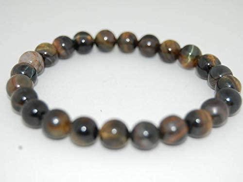 AAA++ Rare Quality Dark Tiger Eye Bracelet,Tiger Eye 8mm Beads,Stretch Bracelet,Man,Woman,Tiger Eye Bracelet Code- WAR11111