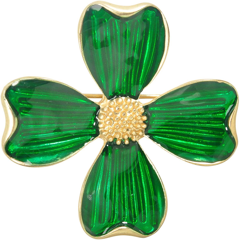 Gyn&Joy Four Leaf Clover Brooch Pin