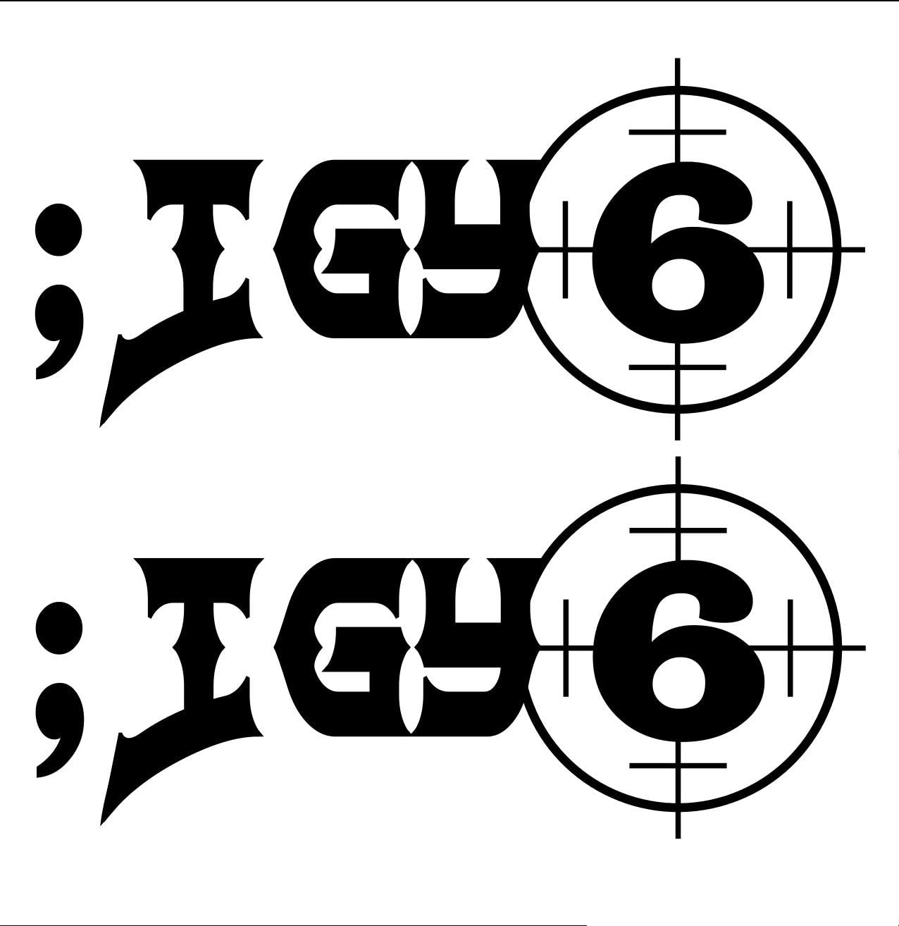 UR Impressions Blk ;IGY6 - I Got Your 6 2-Pack Decal Vinyl Sticker Graphics Car Truck SUV Van Wall Window Laptop Black 6 X 2.7 Inch URI620