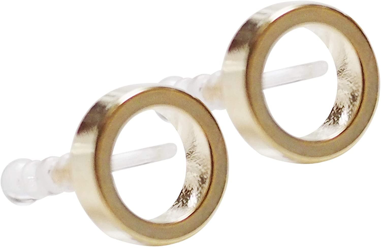 MiyabiGrace Minimalist Open Circle Invisible Clip On Earrings for Women Gold Comfortable Elegant Teardrop Hoop Knot Non Pierced Clip Earrings, Silver tone