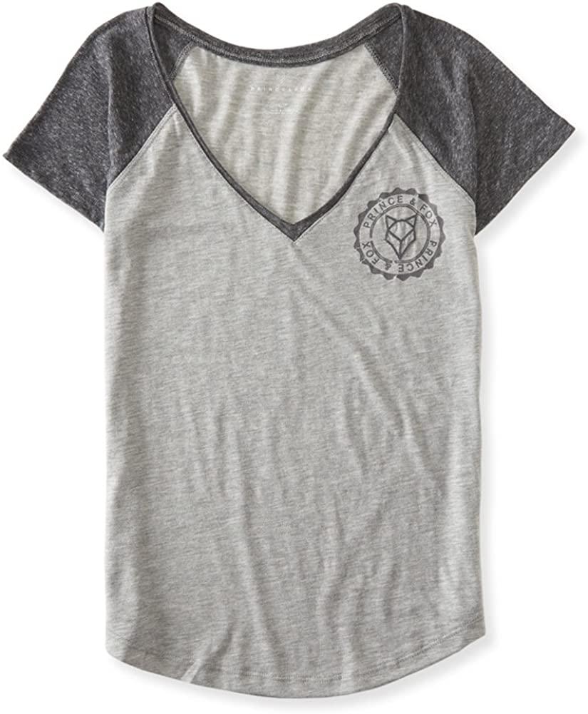 AEROPOSTALE Womens Heathered Raglan Graphic T-Shirt