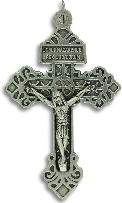 Pardon Crucifix Cross Large 2-1/8 Pendant Italy Indulgence Rosary Crucifix Pendant