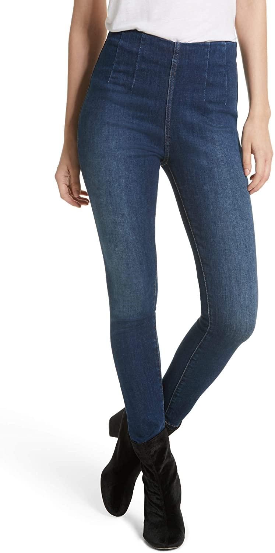 Free People Womens Denim High Rise Skinny Jeans