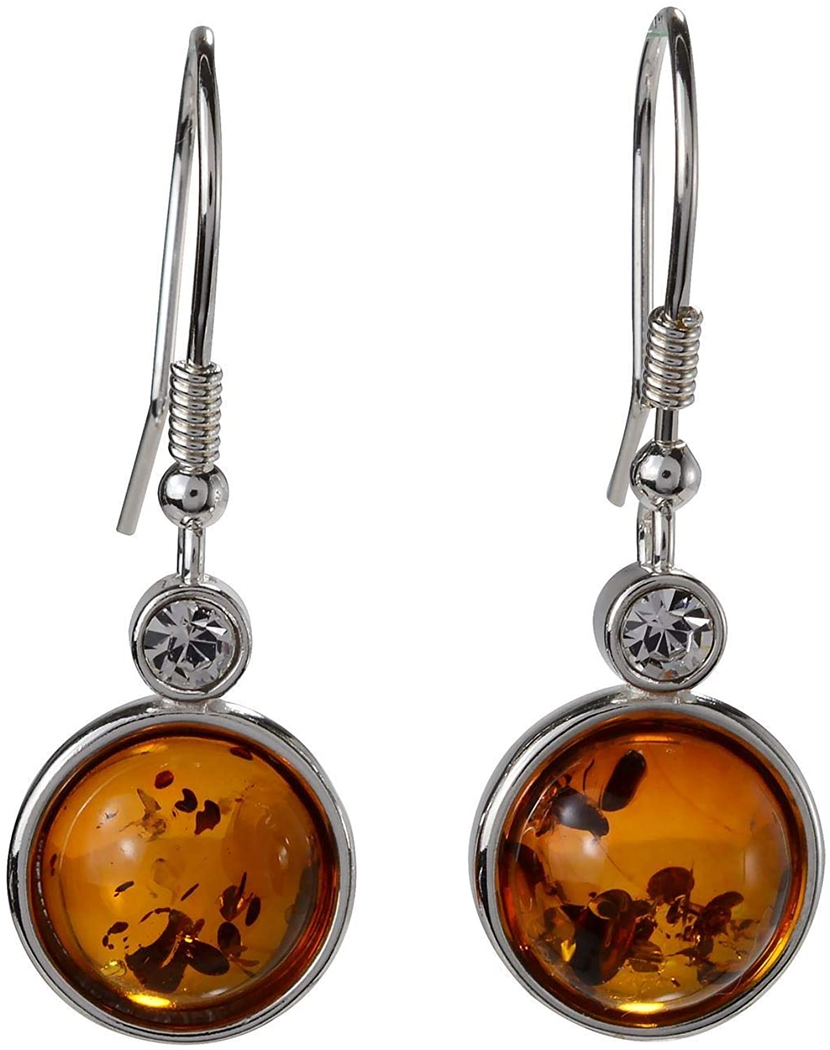 Sterling Silver and Baltic Fish Hook Honey Amber EarringsStephanie