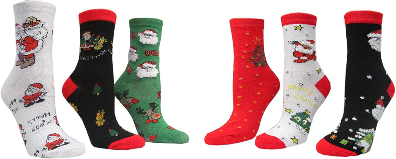 Woman 12-Pair/Pack Christmas Socks - (Lady's (9-11)