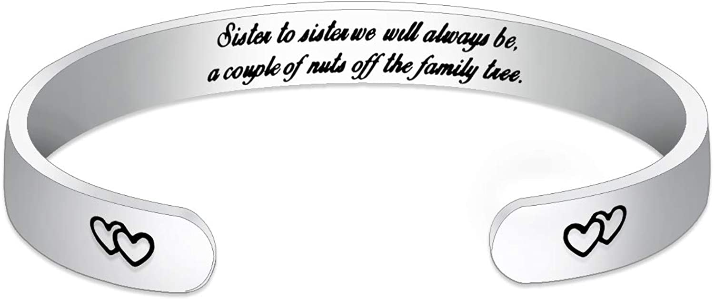 MOMOL Bangle Bracelet for Women, 18K Gold Plated Stainless Steel Cuff Bangle Bracelet Inspirational Engraved Bracelet for Girls