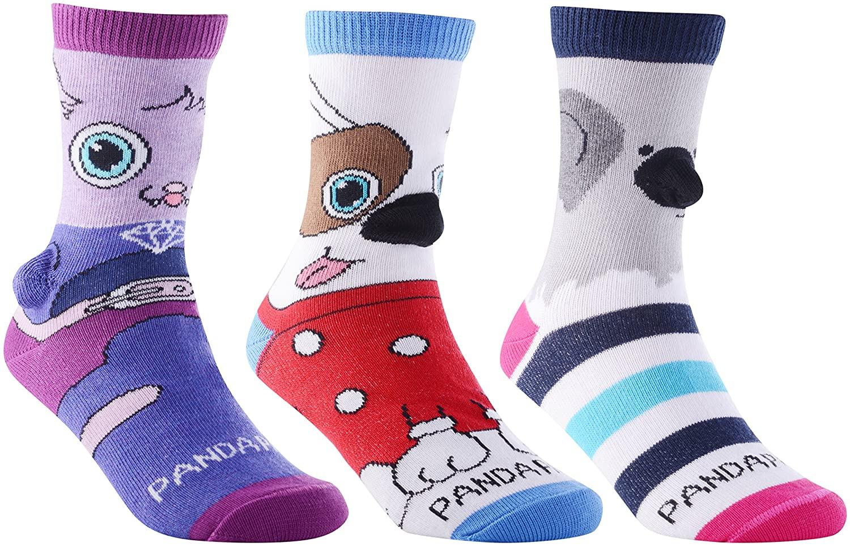 Childrens Fun Animal Socks by Sock Panda (Three Pack)