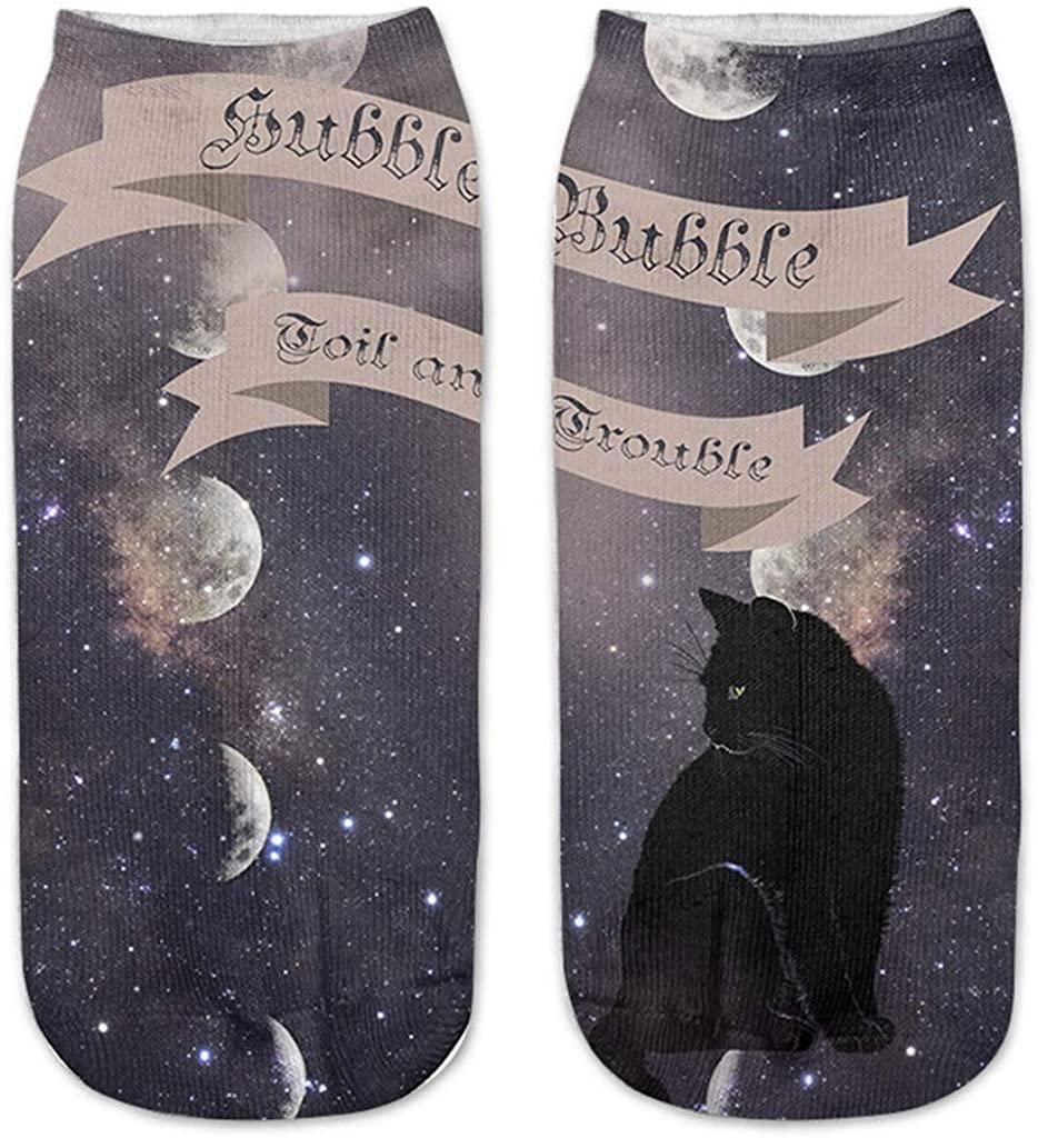 Funny Socks Halloween Bat Printed Athletic Socks Dress Socks Personalized Gift