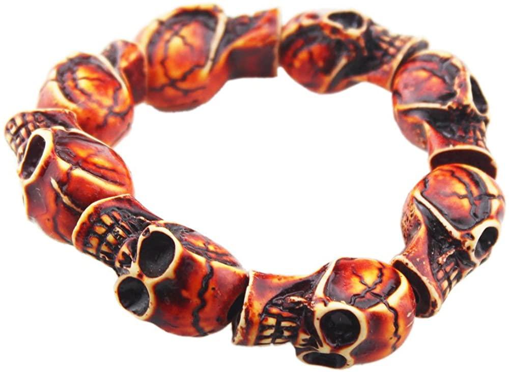 FOY-MALL Fashion Skull Head Stretch Bracelet E1077