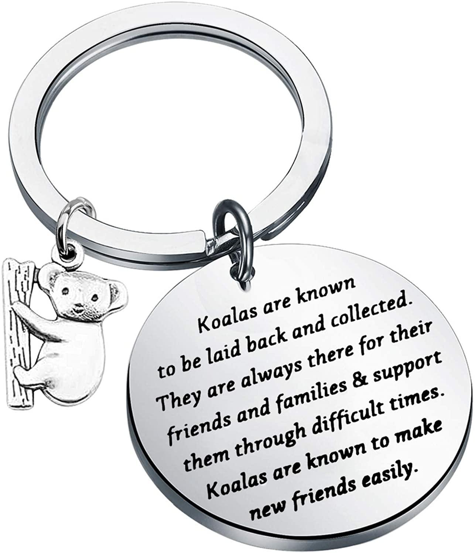 CYTING Koala Keychain Koalas are Known to Be Laid Back and Collected Koala in Tree Australian Animal Jewelry Koala Bear Lovers Gift for Family Friends