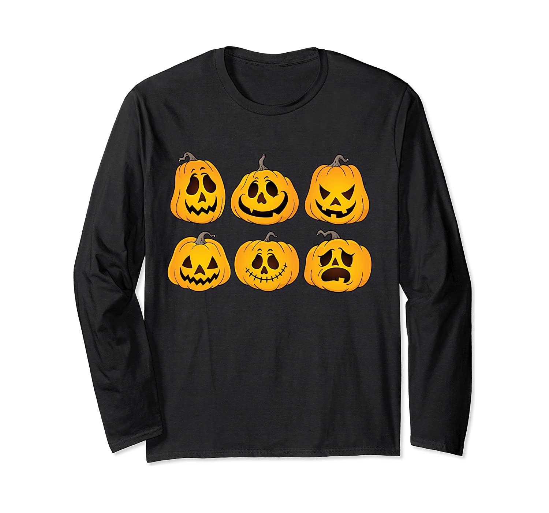 Pumpkin T shirt Funny Pumpkin Halloween Gift Long Sleeve T-Shirt