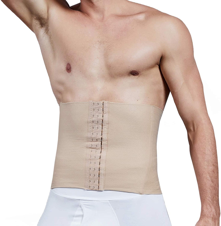 Vaslanda Men Firm Tummy Control Shapewear Compression Waist Cincher Slimming Body Shaper Belly Fat Girdle Stomach Band