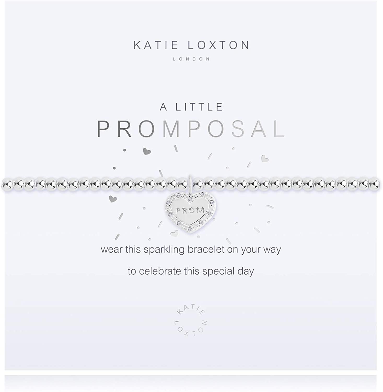 Katie Loxton a Little Prom Posal Womens Stretch Adjustable Band Fashion Charm Bracelet