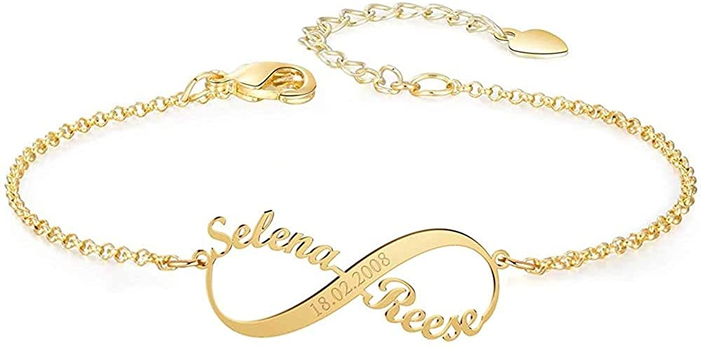 ORFAN Custom Name Anklet Bracelet Personalized for Women Name Bracelet Custom Made with Any Names Custom Name Charm Jewelry Gift