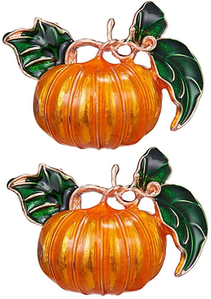 KESYOO 1pc Brooch Breastpin Alloy Pumpkin Plants Shape Design for Halloween Decor (Yellow)