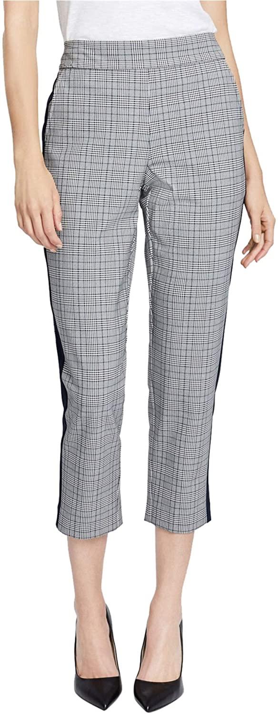 Rachel Roy Womens Plaid Casual Cropped Pants