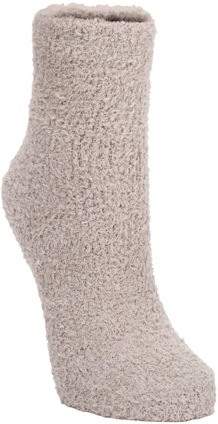 Ultra-Soft Knit Comfort Quarter Length Cozy Socks with Grippers