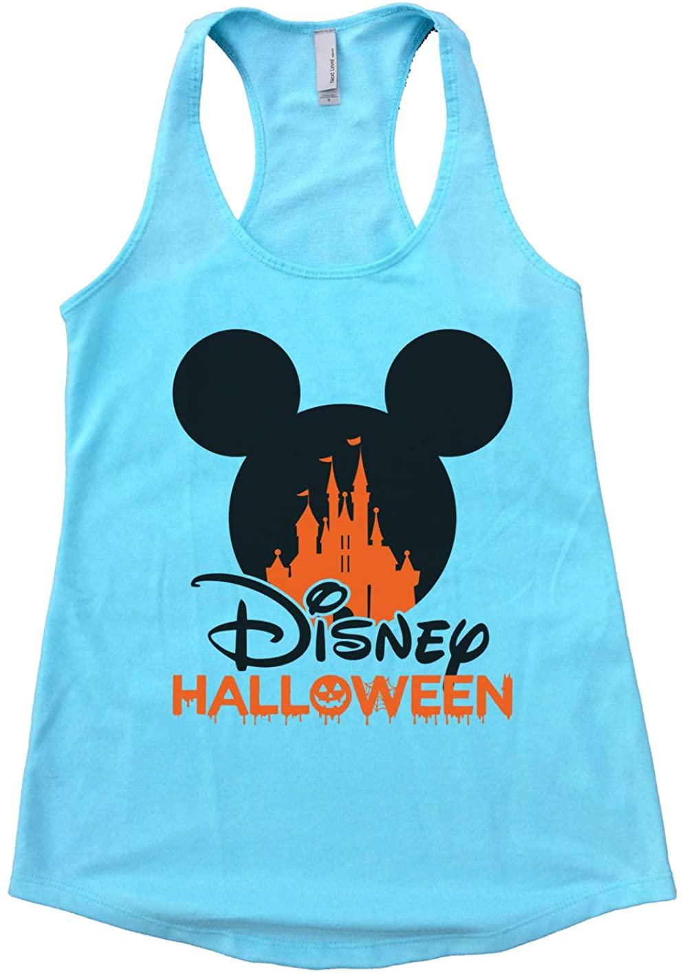 "Womens Flowy Mickey Mouse Tank Top ""Disney Halloween Disney World Tank X-Large, Cancun Blue"