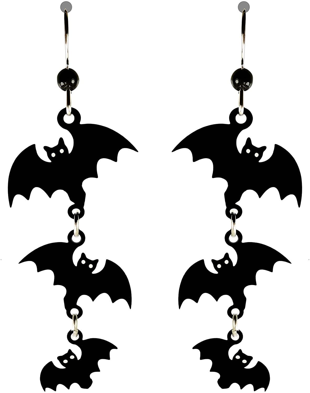 Sienna Sky Cascading Halloween Bat Earrings 1628