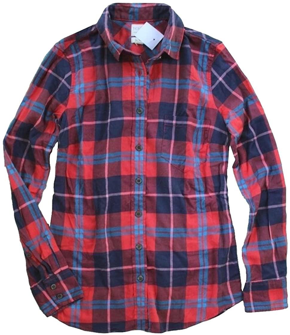 J. Crew Factory - Women's Plaid Patterned Flannel Shirt