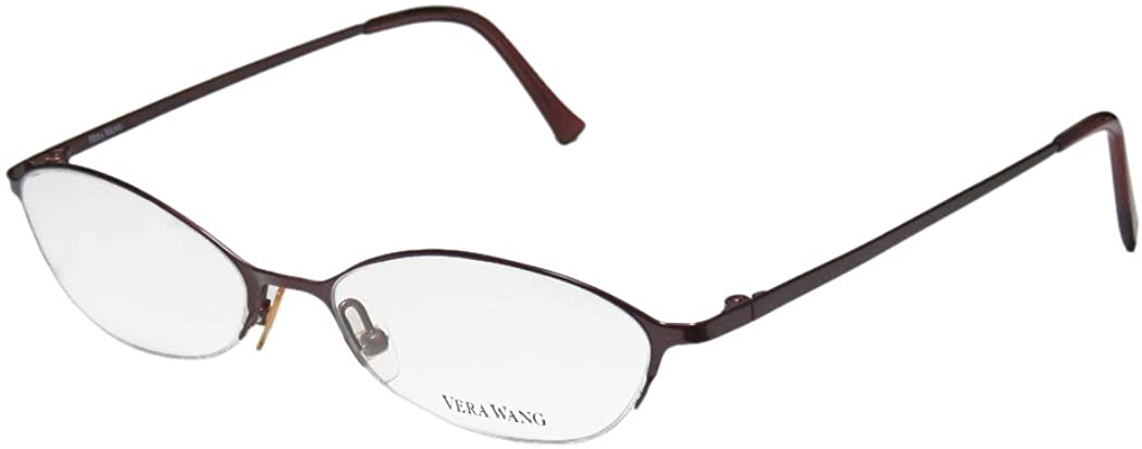 Vera Wang V101 Womens/Ladies Cat Eye Half-rim Titanium Half-rimless Eyeglasses/Spectacles
