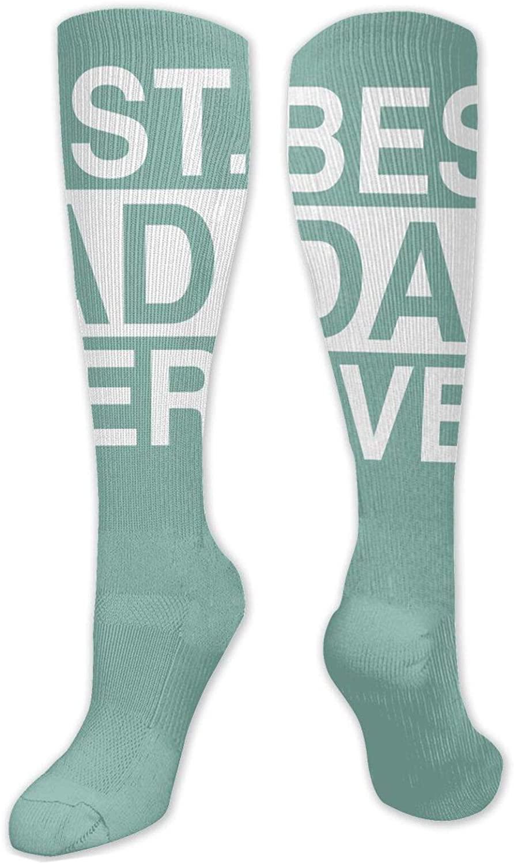 Best Dad Ever Funny Novelty Knee Thigh Socks Mens Boot Socks