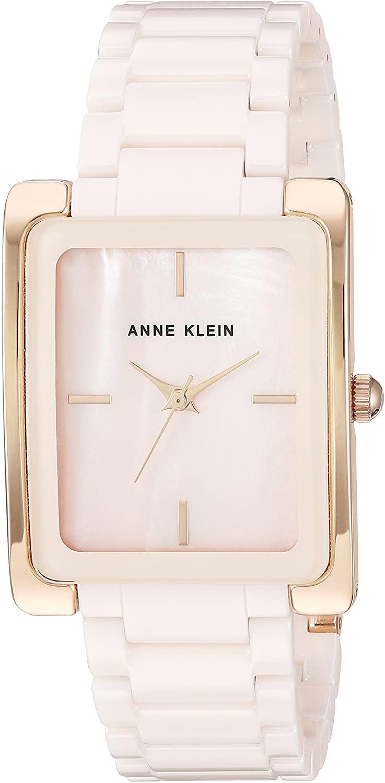Anne Klein Women's Gold Tone and Ceramic Bracelet Watch