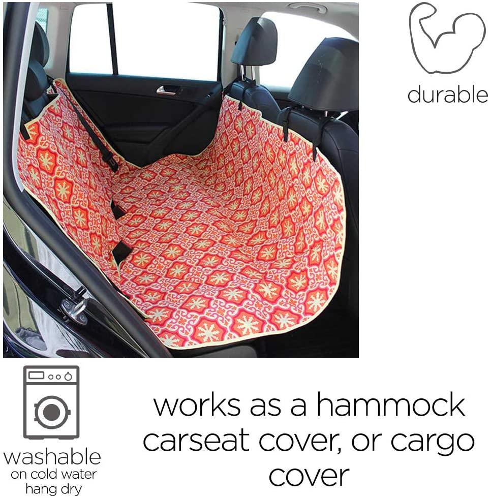 Molly Mutt Dog Car Seat Cover - Dog Hammock for Back Seat - Dog Car Seat Covers Hammock Cover - Cute Car Seat Covers for Cars - Car Cover for Dogs - Pet Car Seat Covers Back Seat Car Seat Cover