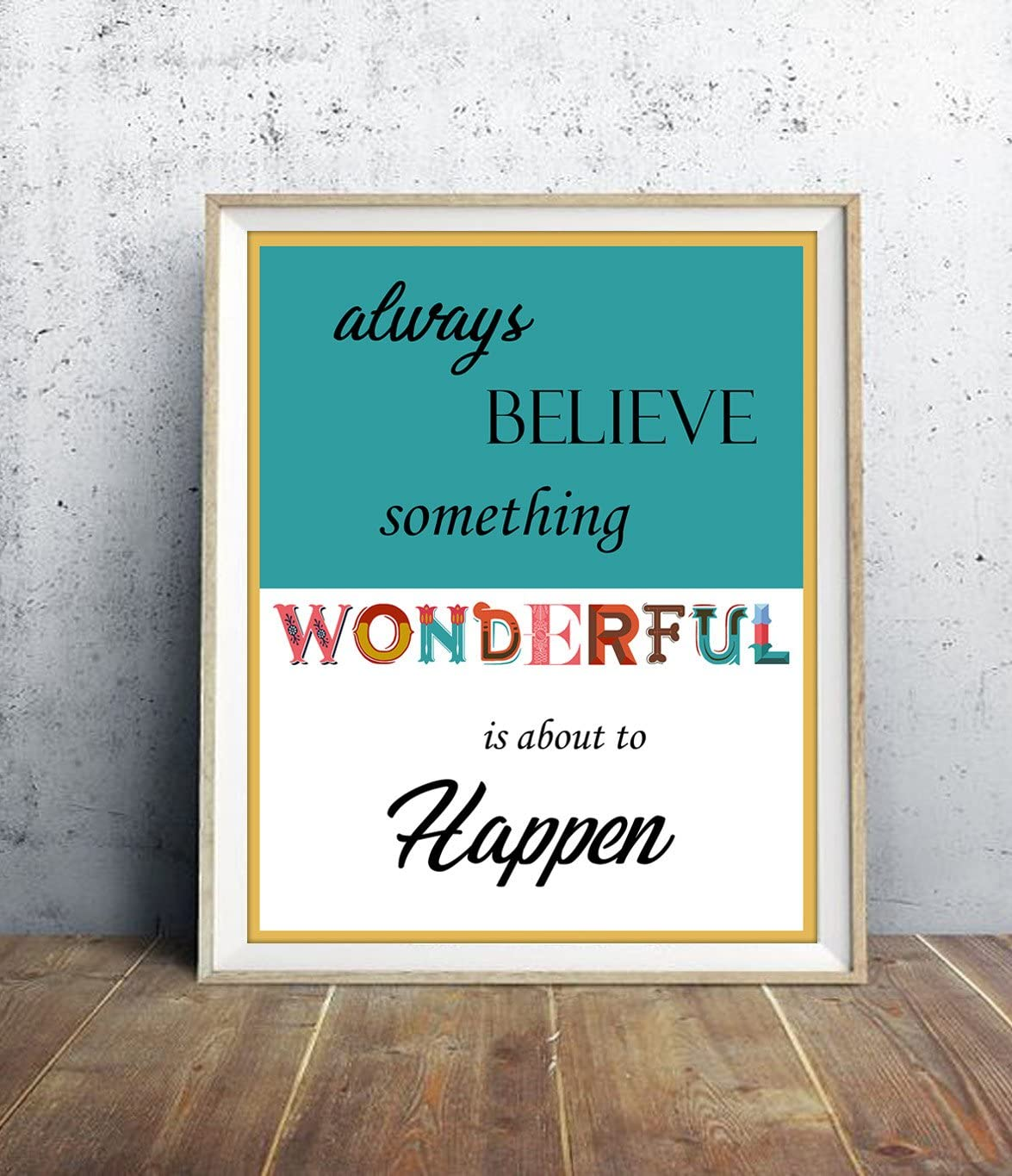 VLiving Motivational & Inspiring Quotes Digital Wall Art Print with Combination of Colour Blocks and Interesting Fonts in Background, Digital Quotes of The Life. (8