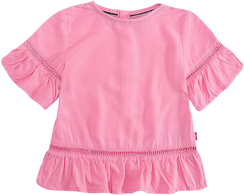 Levi's Girls' Short Sleeve Ruffle Top