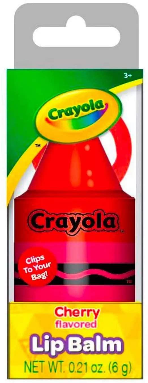 Officially Licensed Crayon Lip Balm Stocking Stuffer Clip, Net Wt 0.21 Oz (Green Apple)
