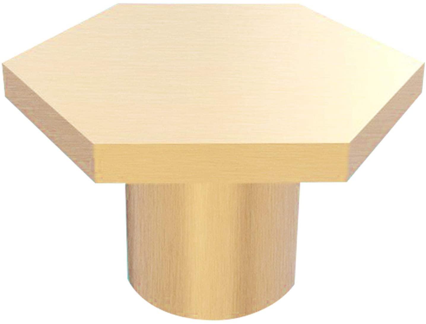 Trust4care 5-Pack Brushed Brass Hexagon Knobs Pull for Bedroom Cabinet, 100% Solid Brass Big Size Gold Dresser Drawer Pulls for Kitchen Furniture Decorative