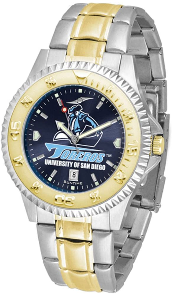 San Diego Toreros Competitor AnoChrome Two Tone Watch
