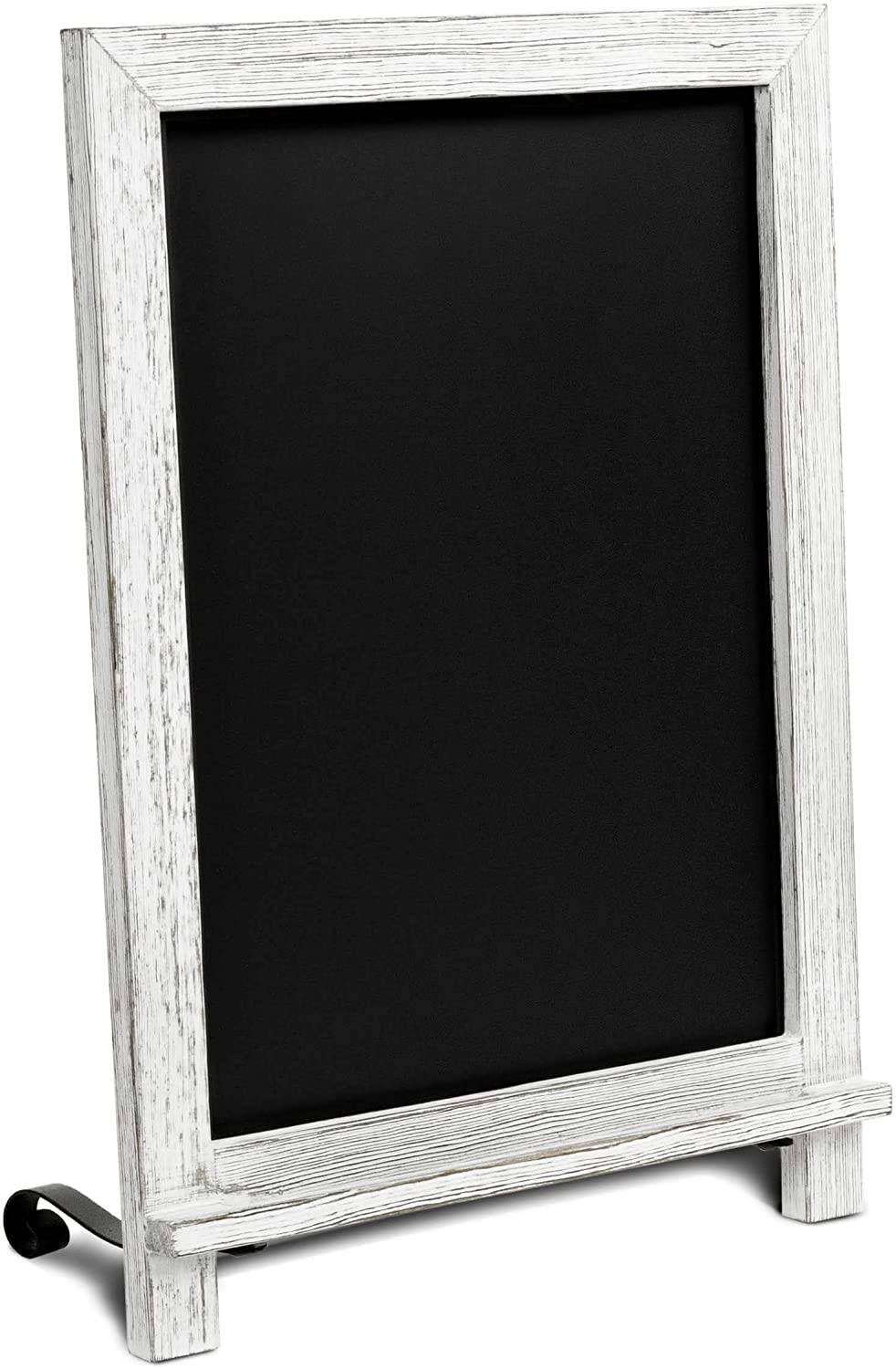 Rustic Whitewash Tabletop Chalkboard Sign / Hanging Magnetic Wall Chalkboard / Small Countertop Chalkboard Easel / Kitchen Countertop Memo Board / 12