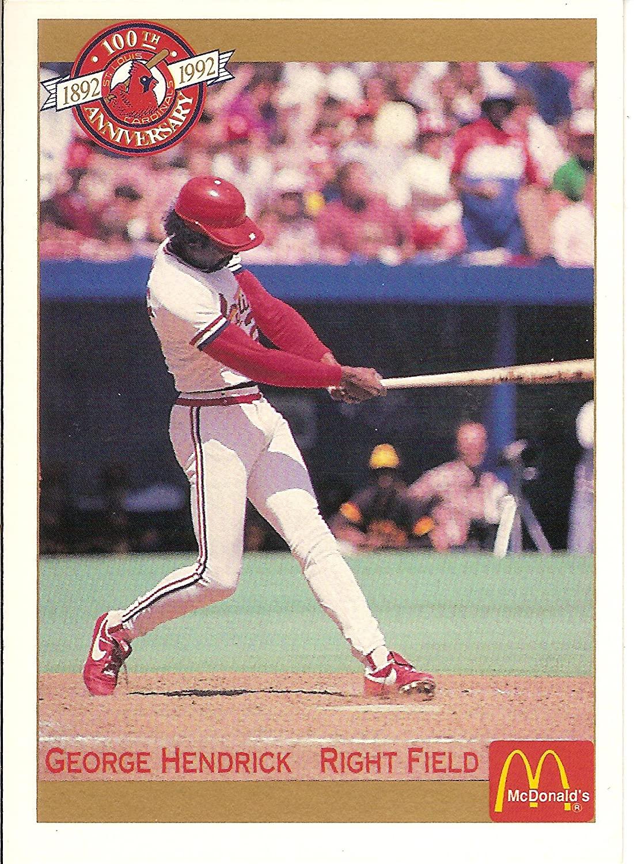 1992 McDonalds George Hendrick - DSRP: $4 to $5.00